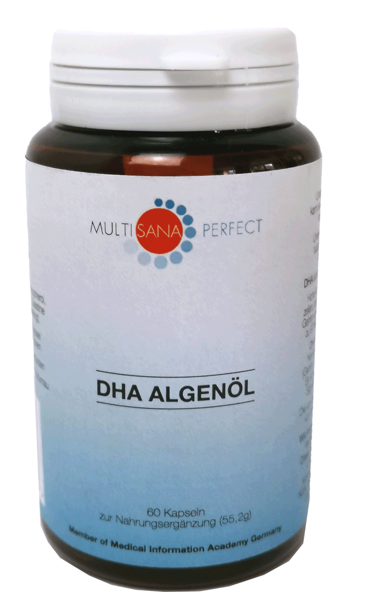 Multisana DHA pflanzl. Omega-3 (Algenöl-Kapseln)
